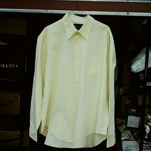 Yellow John Blair Men's Dress Shirt
